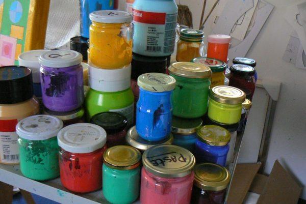 atelier verf potten